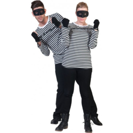 Mime shirt zwart en wit