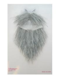 Snor en baard grijs
