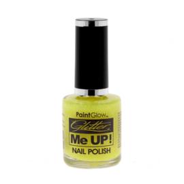 Neon UV glitter lemon nagellak