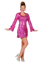 Disco jurkje elegance pink