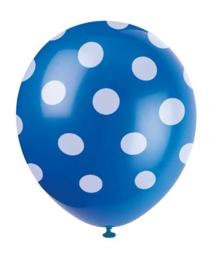 Ballonnen dots wit blauw