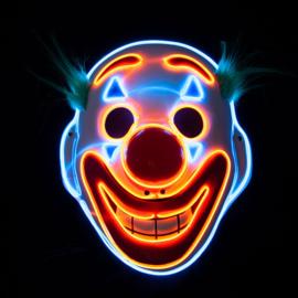 Happy Face E.L Clown masker