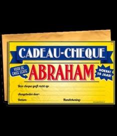 Cadeau cheque Abraham