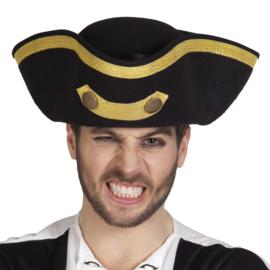 Admiraals hoed Tricorne | Piraten