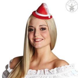 Tiroler hoedje op clip rood