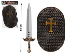 Knight zwaard set | 50X32cm