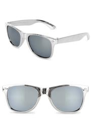 Moderne partybril zilver spiegel