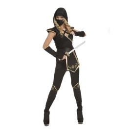 Ninja negro jurkje vrouw