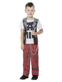 Punk rocker kostuum jongens