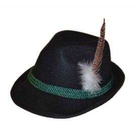 Tiroler hoed deluxe zwart