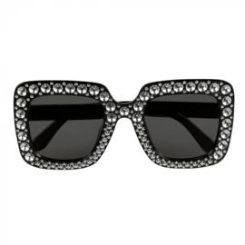 Partybril bling bling | zwart