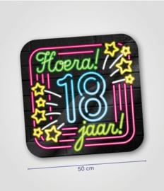 Deurbord neon 18 jaar