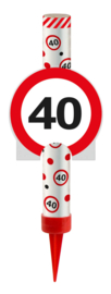 IJsfontein 40 jaar verkeersbord
