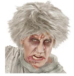 Pruik zombie grijs