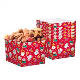 Set 6 Papieren bakjes Sinterklaas (40 cl)