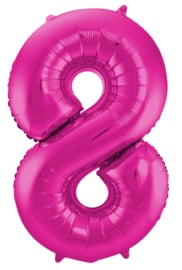 Folieballon 8 Pink / magenta