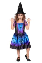 Heksen jurkje blauw / paars