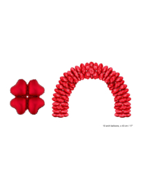 Folieballon rood hart voor boog 10 stuks
