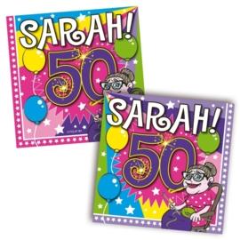 Servetten Sarah 50 jaar