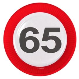 Verkeersbord bordjes 65 jaar