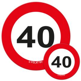 Tafelconfetti 40 jaar verkeersbord