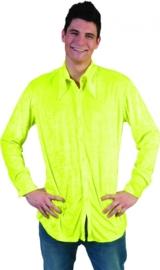 Neon gele blouse