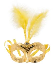Oogmasker metallic goud