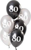 Ballonnen Glossy Black 80 Jaar