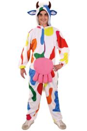 Bonte koe kostuum pluche