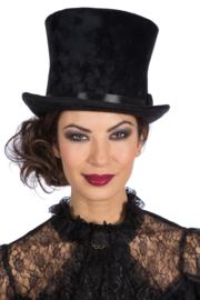 Hoge hoed Velvet XL | zwart