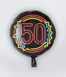 Neon folieballon 50 jaar