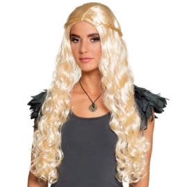 Pruik dragon mother | blond
