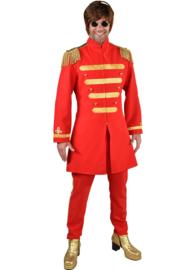 Sgt. Pepper kostuum rood deluxe