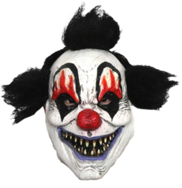 Masker clown black flame