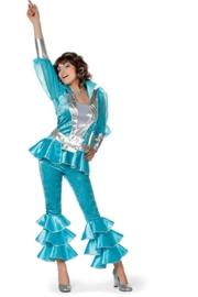 Disco kostuum turqoise