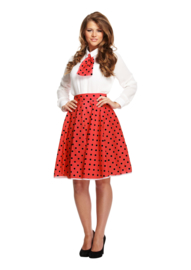 60's disco pin up rokje rood