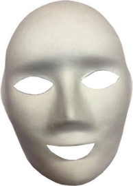Masker White Face to be Painted