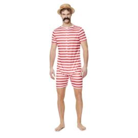 Ouderwets zwempak kostuum