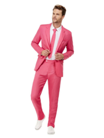 Solid Colour Suit Hot Pink