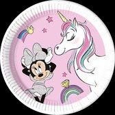 Minnie Unicorn Dreams   Composteerbaar Papieren bordjes