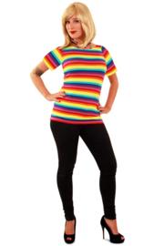 Shirt streep regenboog