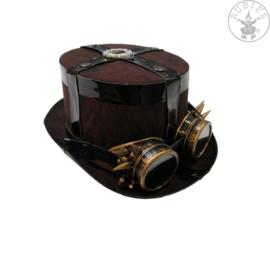 Hoed Steampunk met bril | original,STD