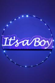 Licht deur cirkel 35cm met It's a Boy