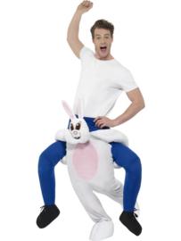 Gedragen konijn kostuum