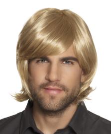 Pruik blond Spikey