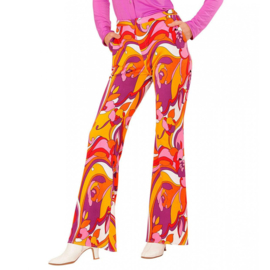 Groovy 70's  dames broek orchidee