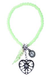 Armband tiroler hart groen