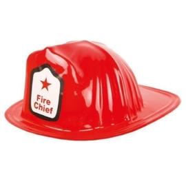 Kinder brandweerhelm rood