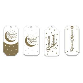 Gift tags 'Ramadan Mubarak' (8st) | Ramadan