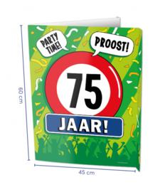Window signs - 75 jaar | Raambord